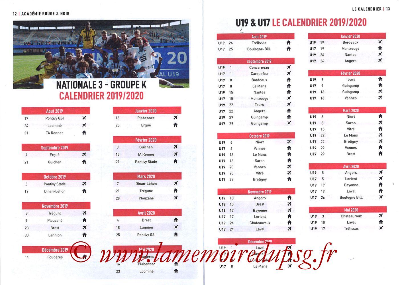 2019-08-18  Rennes-PSG (2ème L1, Programme officiel) - Pages 12 et 13