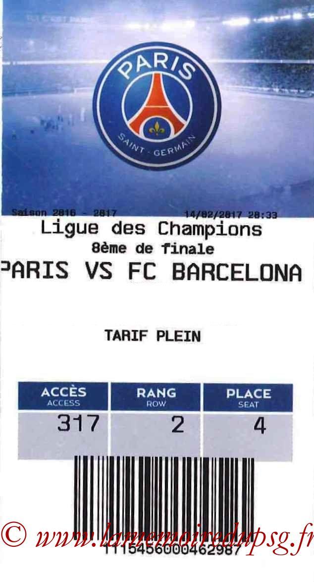 2017-02-14  PSG-Barcelone (8ème Aller C1, E-ticket)