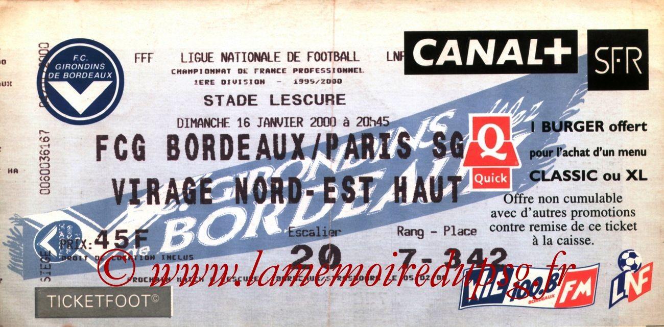 2000-01-16  Bordeaux-PSG (22ème D1)