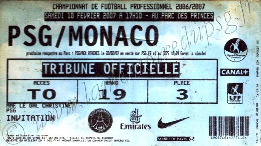 2007-02-10  PSG-Monaco (24ème L1, bis)