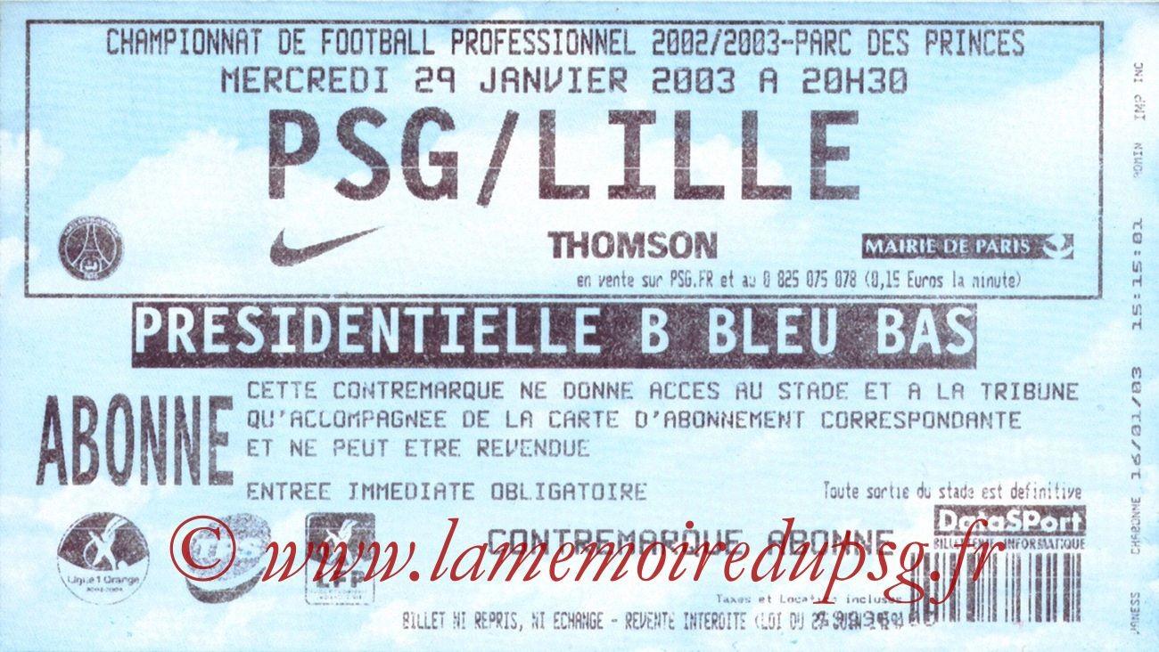 2003-01-29  PSG-Lille (24ème L1, bis)