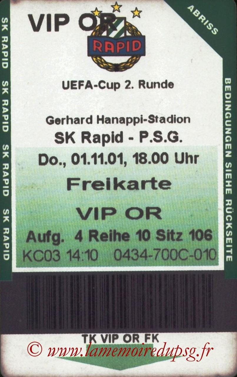 2001-11-01  Rapid Vienne-PSG (32ème Finale Retour C3)