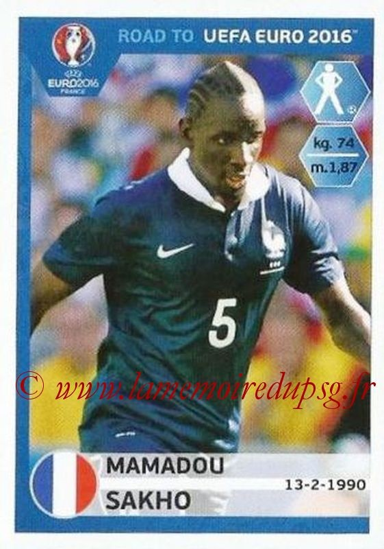 N° 099 - Mamadou SAKHO (2007-13, PSG > 2015, France)