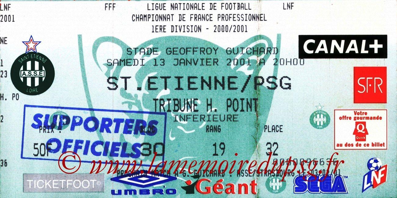 2001-01-13  Saint Etienne-PSG (23ème D1)