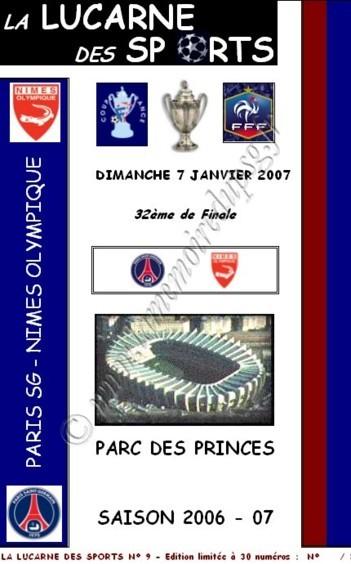 2007-01-07  PSG-Nimes (32ème Finale CF, La lucarne des sports N°9)