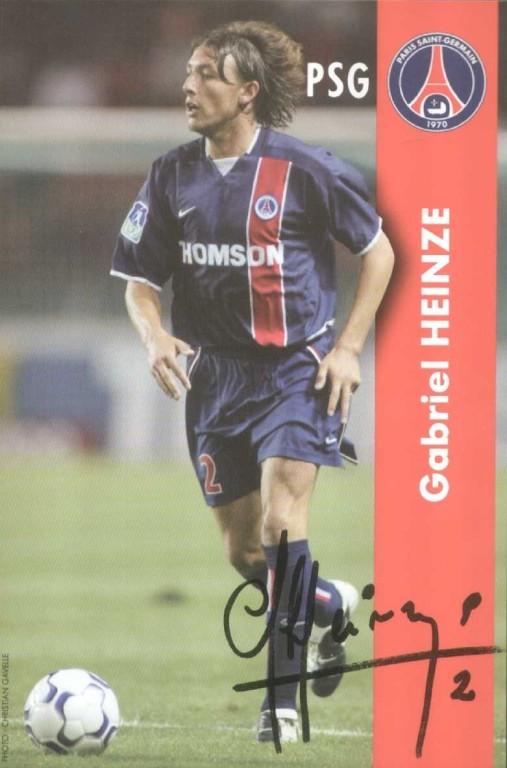 HEINZE Gabriel autographe  02-03