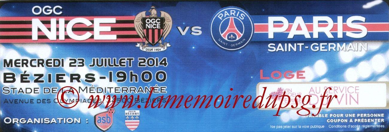 2014-07-23  Nice-PSG (Amical à Nice, Loge3)