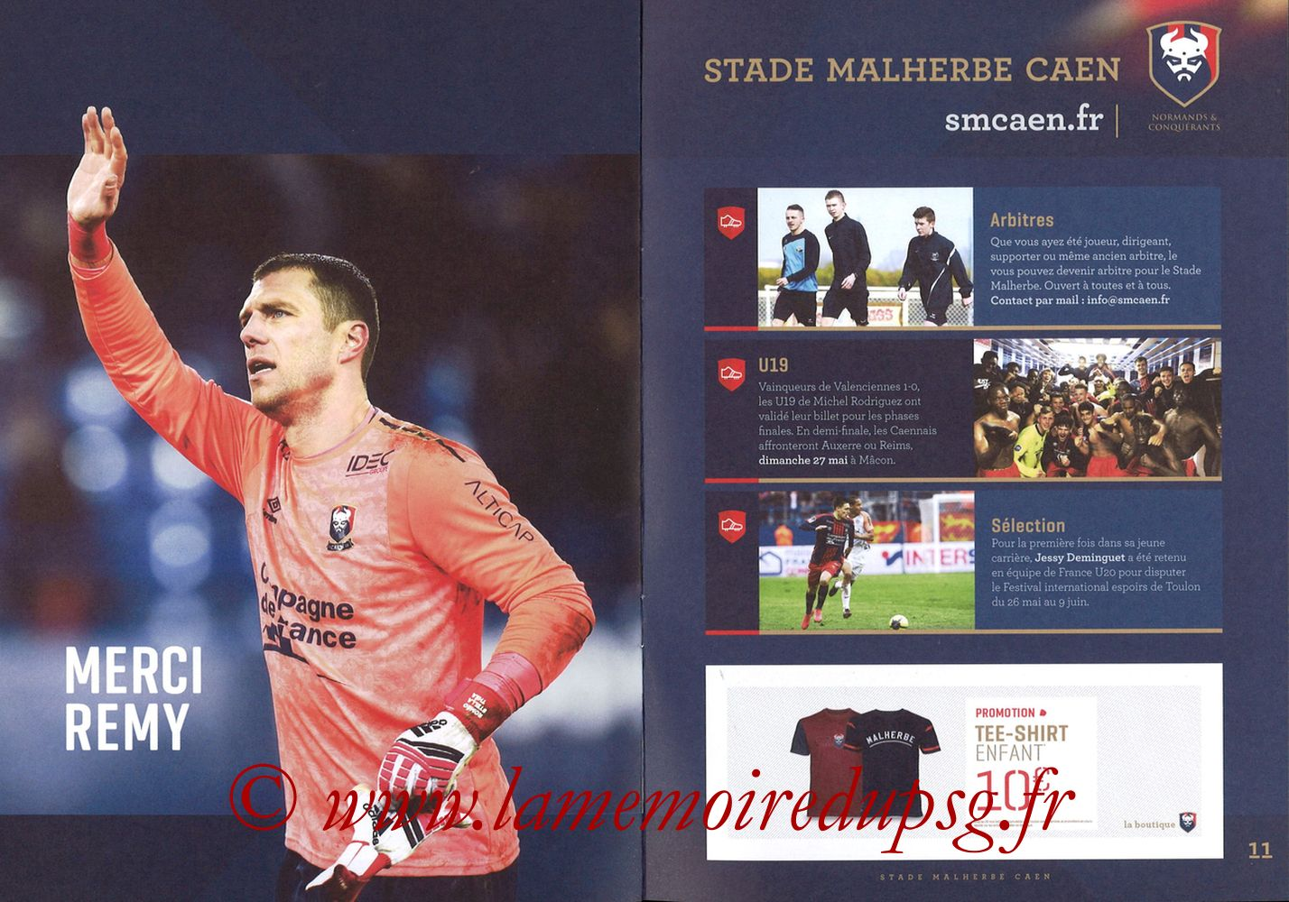 2018-05-19  Caen-PSG (38ème L1, Programme officiel) - Pages 10 et 11
