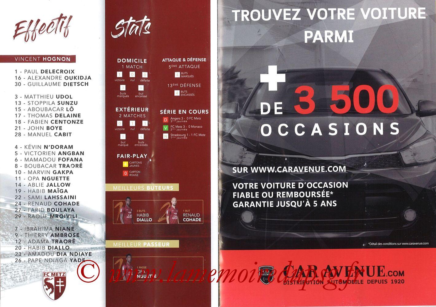 2019-08-30  Metz-PSG (4ème L1, La Gazette de Saint-Symph') - Pages 14 et 15