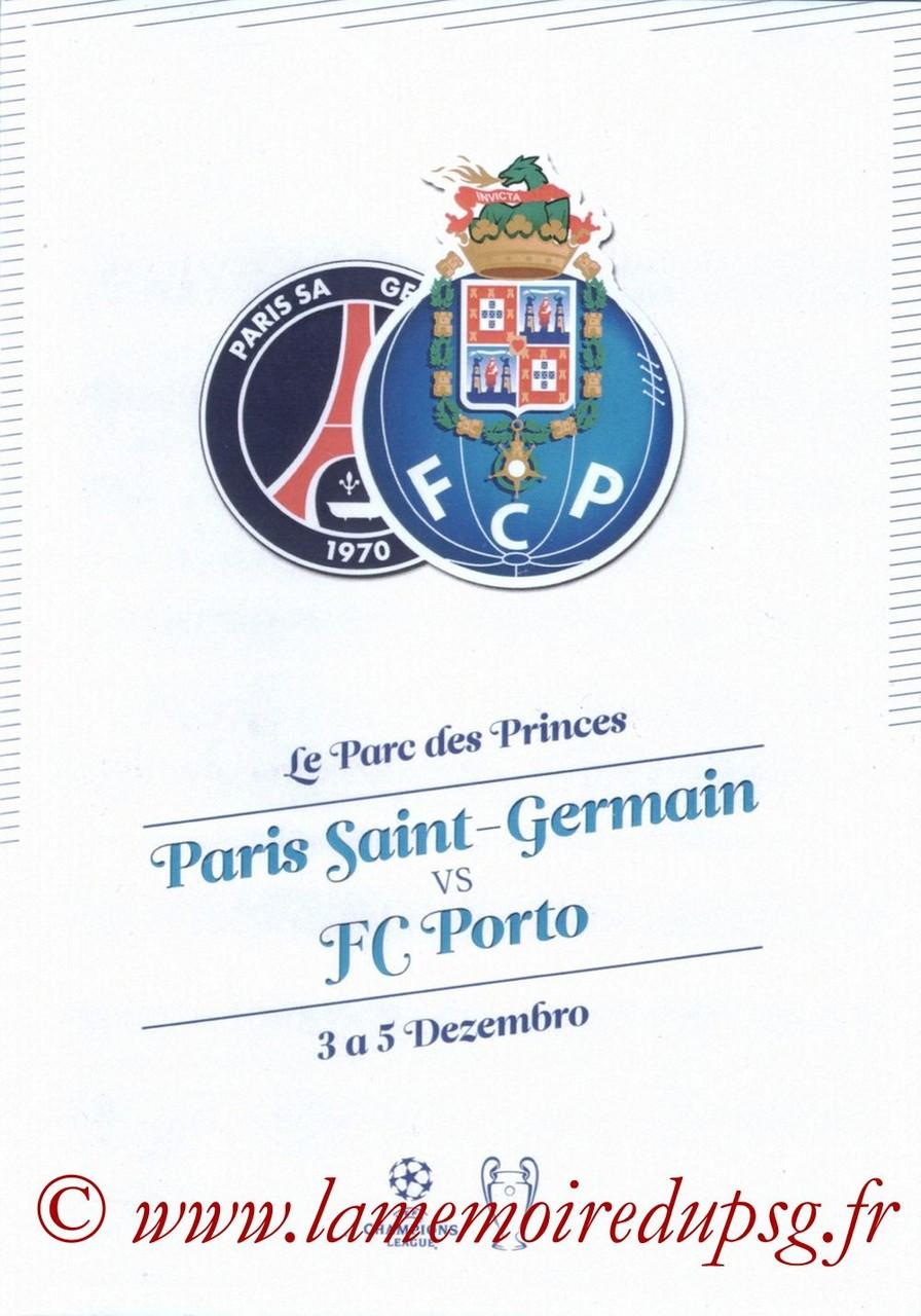 2012-12-04  PSG-FC Porto (6ème Journée Poule C1, Programme pirate 2)