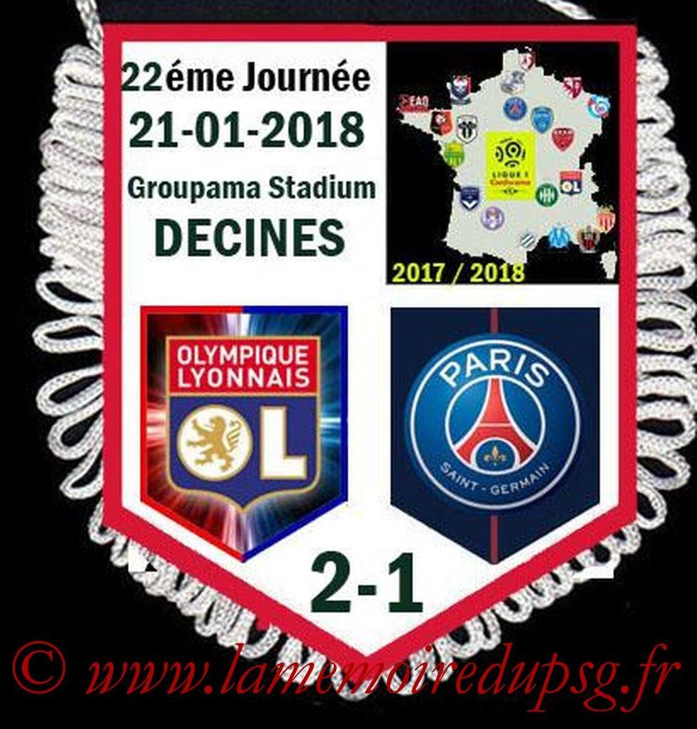 2018-01-21  Lyon-PSG (22ème L1)