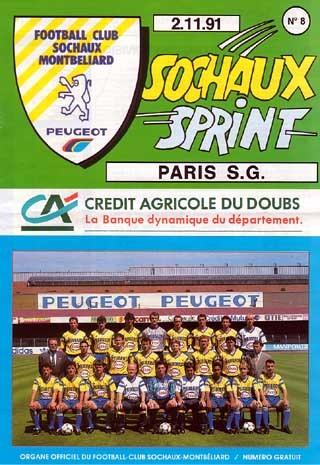 1991-11-02  Sochaux-PSG (16ème D1, Sochaux Sprint N°8)