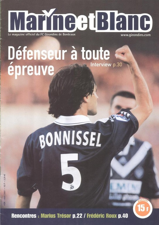 2001-03-18  Bordeaux-PSG (29ème D1, Marine et Blanc N°31)