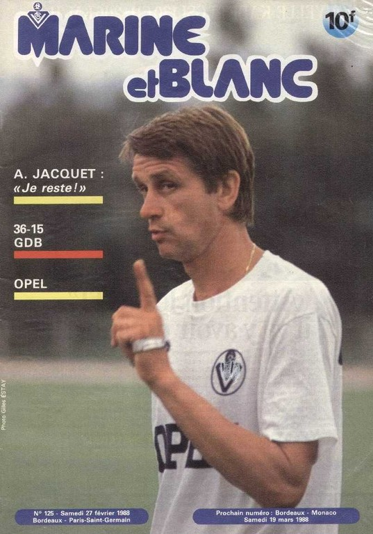 1988-02-27  Bordeaux-PSG (26ème D1, Marine et blanc N°125)
