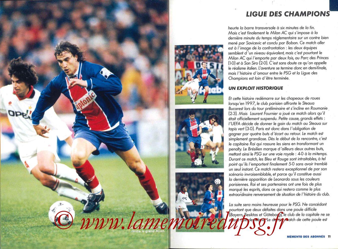 2000-01 - Guide de la Saison PSG - Pages 10 et 11