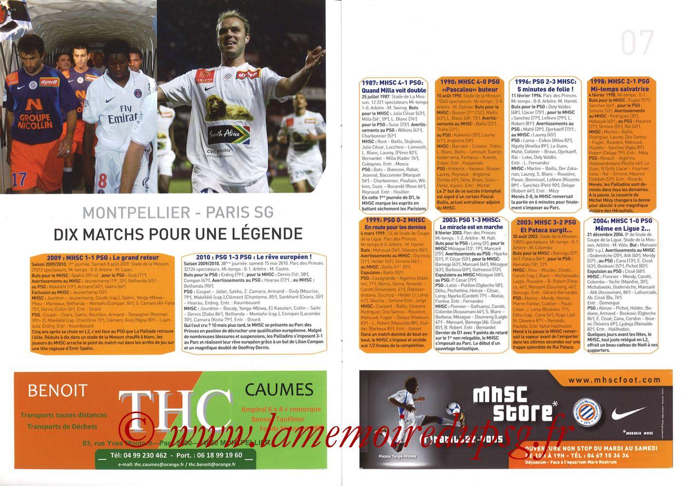 2010-10-31  Montpellier-PSG (11ème L1, L'Echo de la Mosson N°6) - Pages 06 et 07