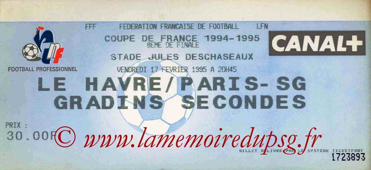 1995-02-17  Le Havre-PSG (8ème Finale CF, match annulé)
