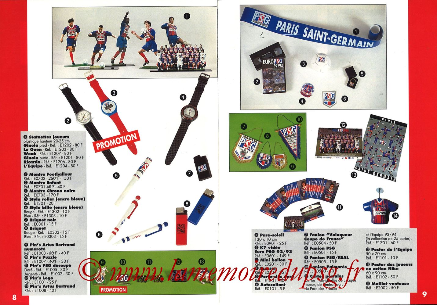 Catalogue PSG - 1993-94 - Pages 04 et 05