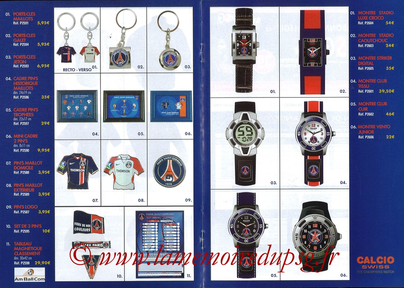 Catalogue PSG - 2003-04 - Pages 04 et 05