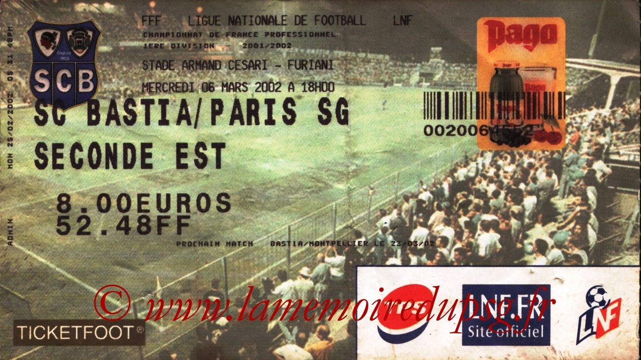 2002-03-06  Bastia-PSG (28ème D1)
