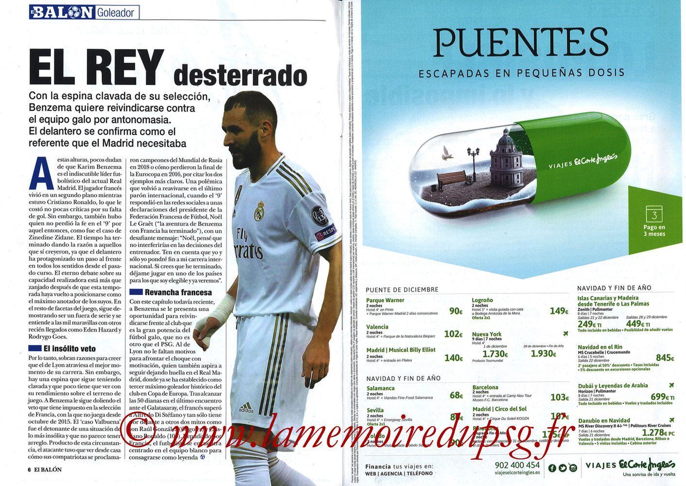 2019-11-26  Real Madrid-PSG (5ème C1, El Balon in the Game N°74) - Pages 06 et 07
