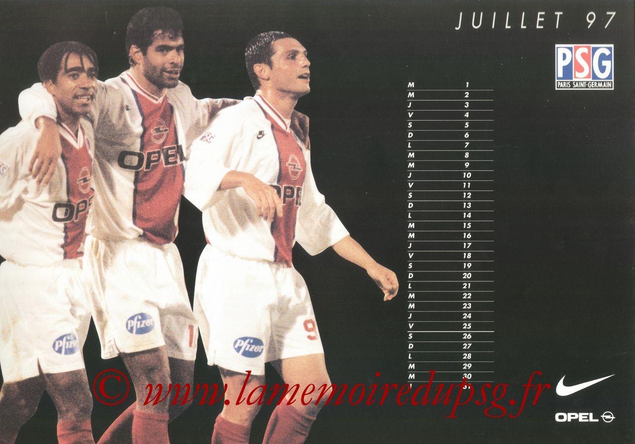 Calendrier PSG 1996-97 - Page 12 - Patrice LOKO + RAI + Laurent FOURNIER