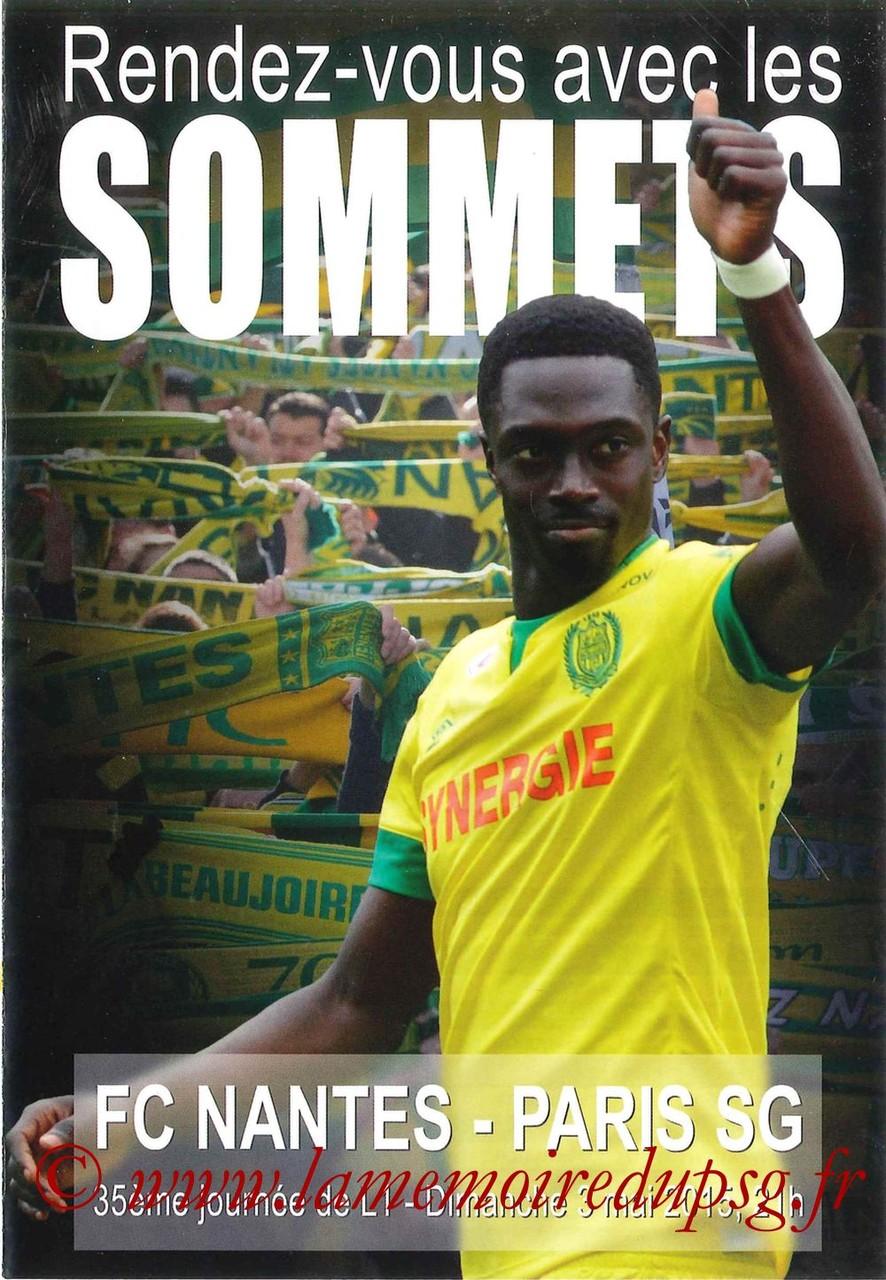 2015-05-03  Nantes-PSG (35ème L1, Programme officiel)