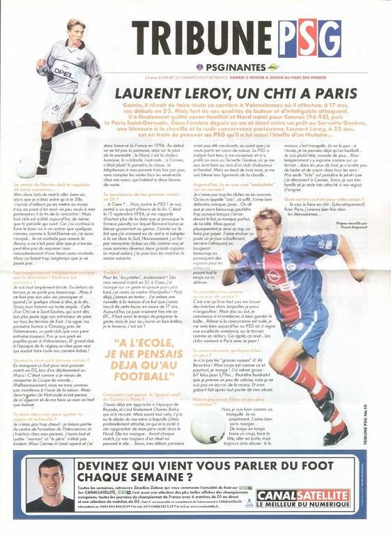 2000-02-05  PSG-Nantes (25ème D1, Tribune PSG N°10)