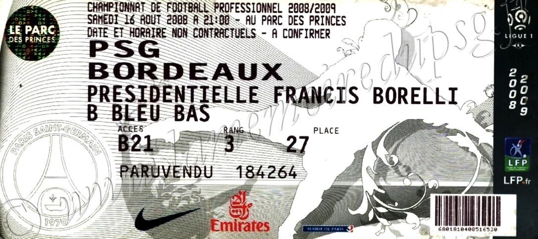 2008-08-16  PSG-Bordeaux (2ème L1, bis)