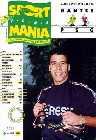 1994-04-05  Nantes-PSG (33ème D1, Sportmania N°107)