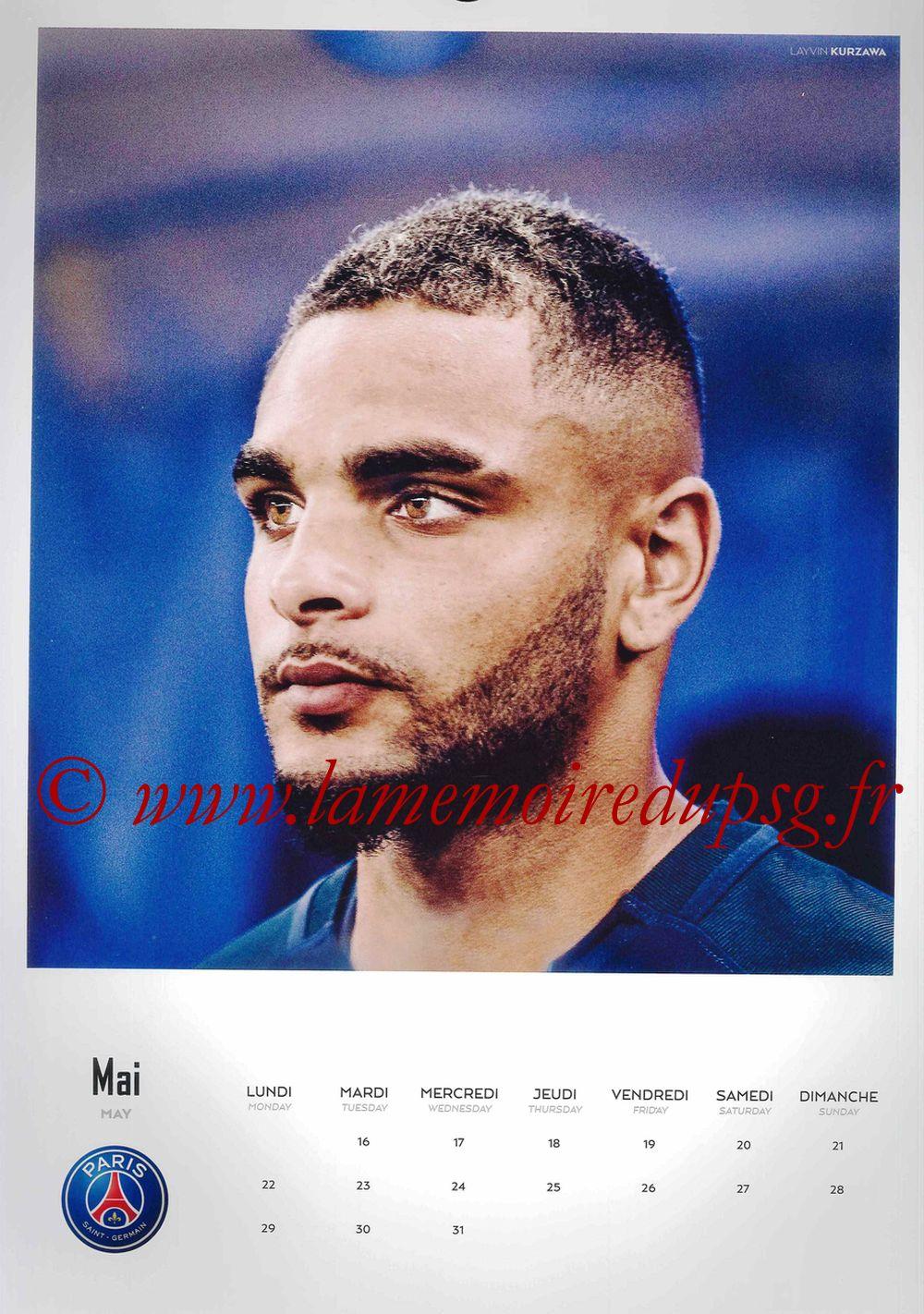 Calendrier PSG 2017 - Page 10 - Layvin KURZAWA