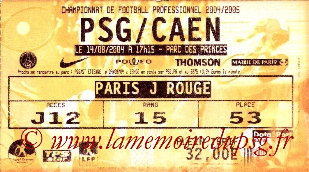 2004-08-14  PSG-Caen (2ème L1, bis)