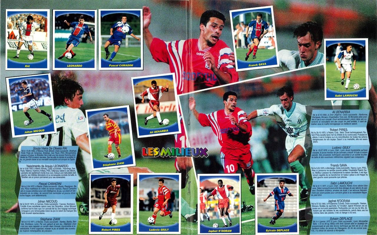 1997-98 - Panini Superfoot - Pages 16 et 17 - Les milieux