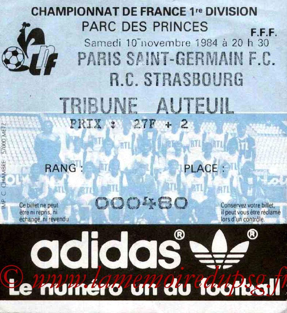 1984-11-27  PSG-Strasbourg (16ème D1, Match en retard)