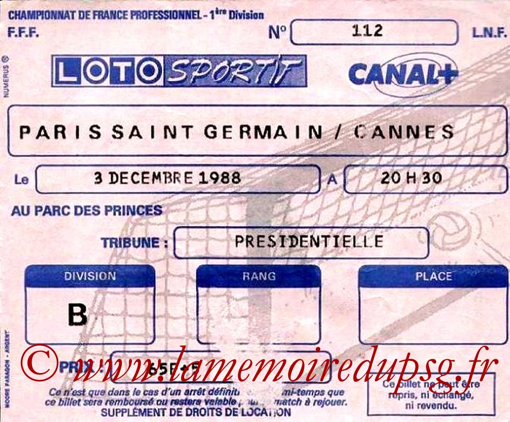 1988-12-03  PSG-Cannes (21ème D1)