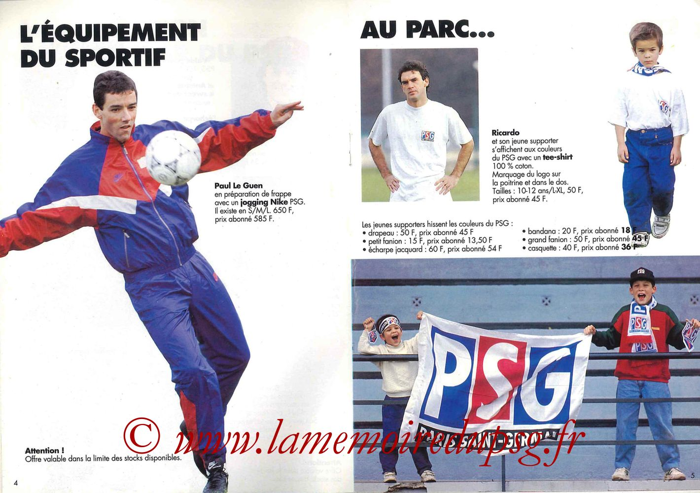 Catalogue PSG - 1992-93 - Pages 04 et 05