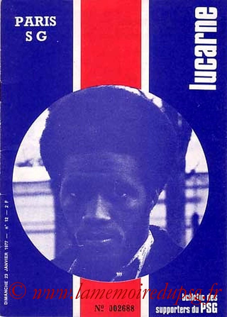 1977-01-23  PSG-Laval (22ème D1, Lucarne N°12)