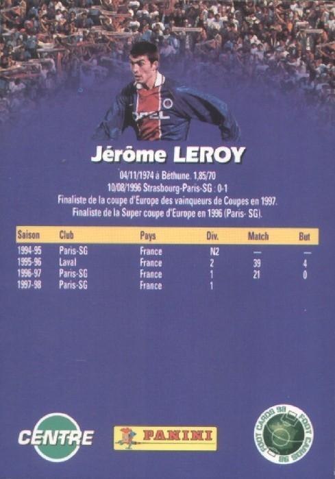 N° 133 - Jerome LEROY (Verso)