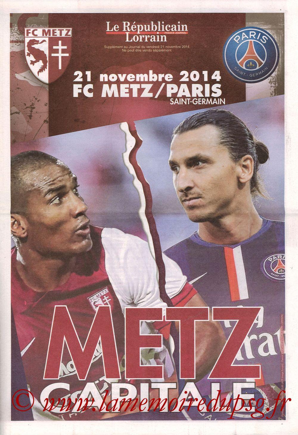 2014-11-21  Metz-PSG (16ème L1, Le Républicain Lorrain)