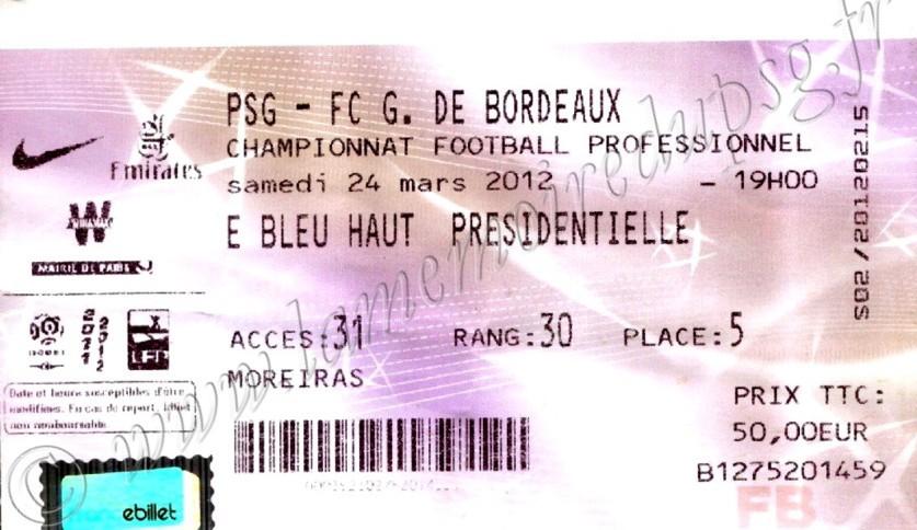 2012-03-25  PSG-Bordeaux (29ème L1, Billetel)
