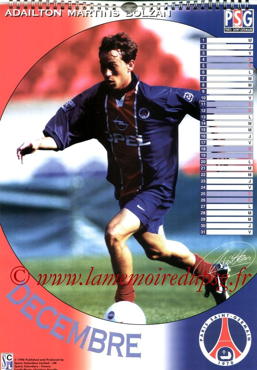 Calendrier PSG 1999 - Page 12 - ADAILTON