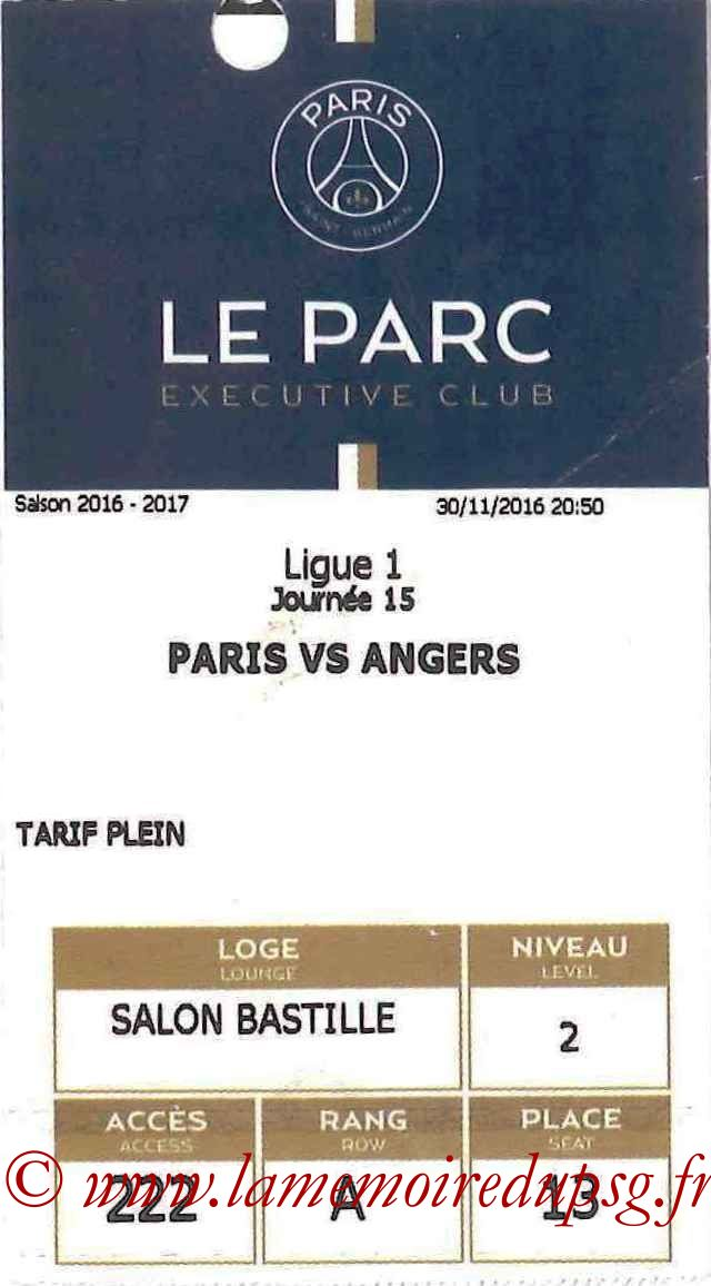 2016-11-30  PSG-Angers (15ème L1, E-ticket Executive club)