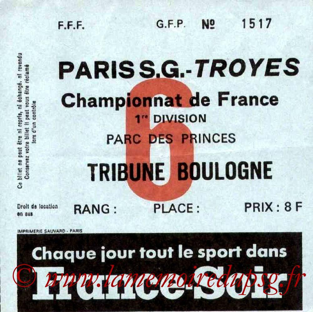1977-10-14  PSG-Troyes (12ème D1, Ticket N°6)