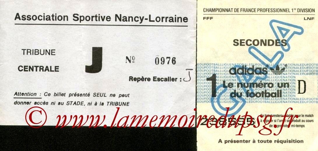 1981-10-03  Nancy-PSG (12ème D1, Sans nom)