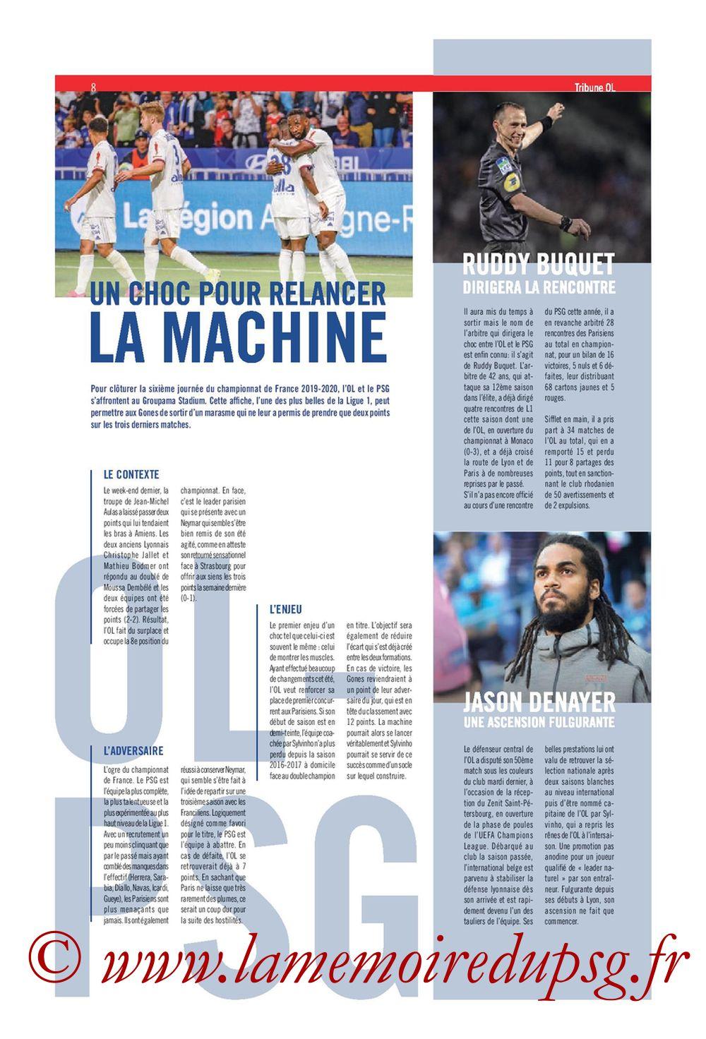 2019-09-22  Lyon-PSG (6ème L1, Tribune OL N°284) - Page 08