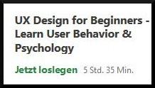 Screenshot von UX-Kurs auf Udemy