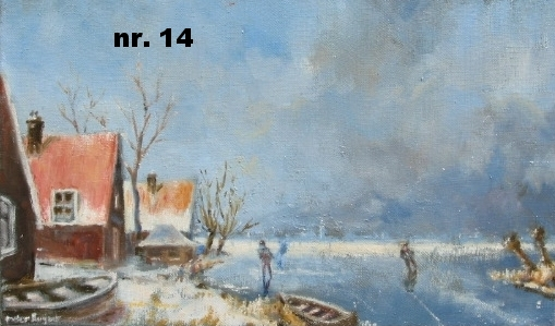 nr. 14 Rode daken in winterlandschap