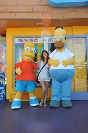 Bart, Homer und ich - also ich bin das in der Mitte!