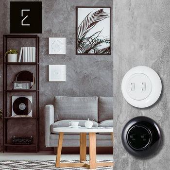 interrupteur rétro vintage pas cher imitation bakélite duroplaste noir et blanc