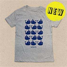 T-Shirt Ballenito mit Wal-Muster